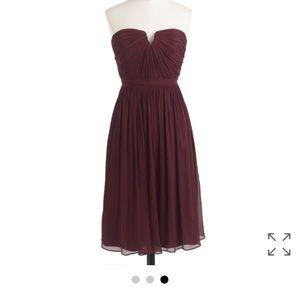 "Burgundy J. Crew Dress ""Nadia"""